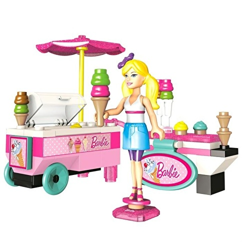Mega Bloks Mega Bloks Barbie Dondurma Arabası Oyun Seti Renkli